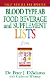 Blood Type Ab Food, Beverage, And Supplemental Lists (Food, Beverage and Supplement)