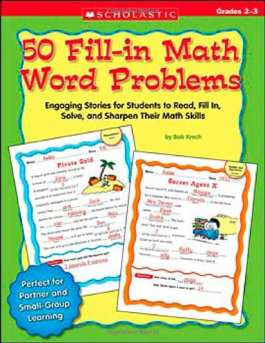 PDF 50 Fill in Math Word Problems Grades 2 3 50 Engaging Stories for Students to Read Fill In Solve and Sharpen Their Math Skills