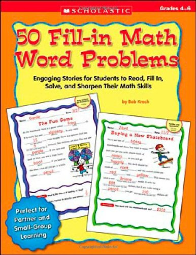 PDF 50 Fill in Math Word Problems Grades 4 6 Engaging Stories for Students to Read Fill In Solve and Sharpen Their Math Skills