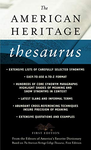 The American Heritage Thesaurus, First Edition, Houghton Mifflin Company
