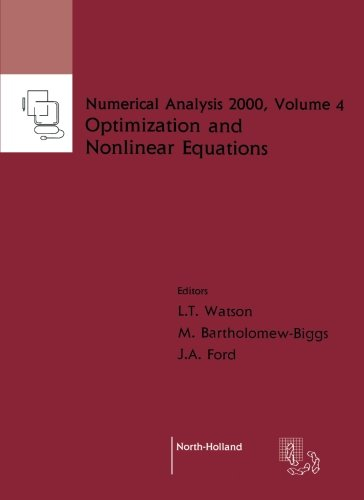 PDF Nonlinear Equations and Optimisation Volume 4 Numerical Analysis 2000