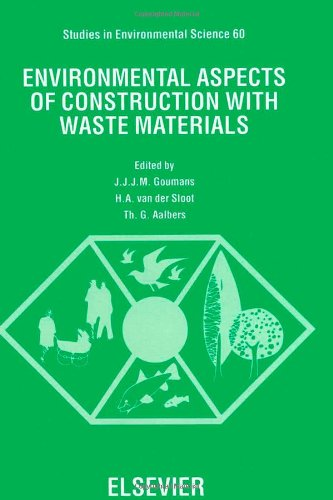 PDF Environmental Aspects of Construction with Waste Materials Studies in Environmental Science