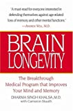 Brain Longevity: The Breakthrough Medical Program That Improves Your Mind and Memory - book cover picture