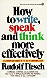 How to Write, Speak and Think More Effectively - book cover picture