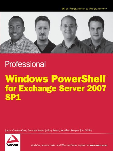 Professional Windows PowerShell for Exchange Server 2007 Service Pack 1 (Programmer to Programmer)