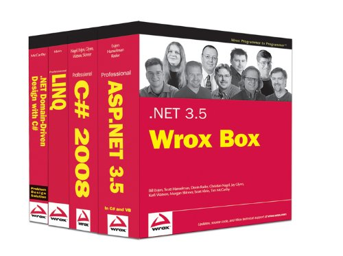 .NET 3.5 Wrox Box: Professional ASP.NET 3.5, Professional C# 2008, Professional LINQ, .NET Domain-Driven Design with C#