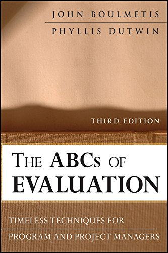 PDF The ABCs of Evaluation Timeless Techniques for Program and Project Managers