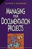 Managing Your Documentation Projects - book cover picture