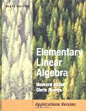 Elementary Linear Algebra with Applications - book cover picture