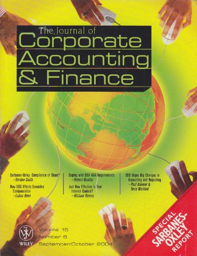 Journal of Corporate Accounting and Finance: Special Sarbanes-Oxley Act Report