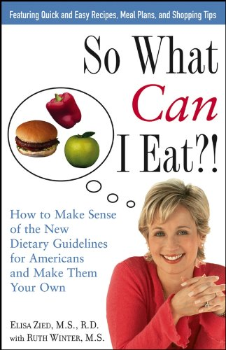 picture of book with title: So What can I eat?