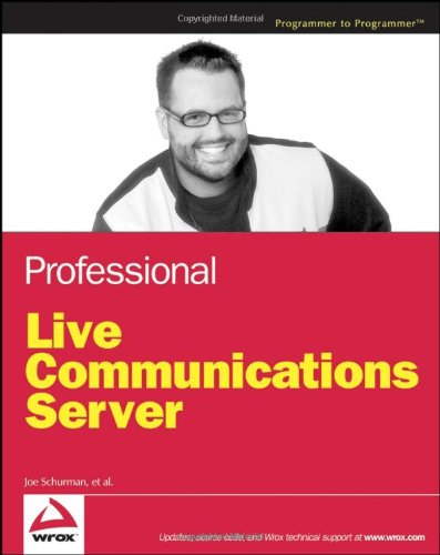 Book Cover: Professional Live Communications Server