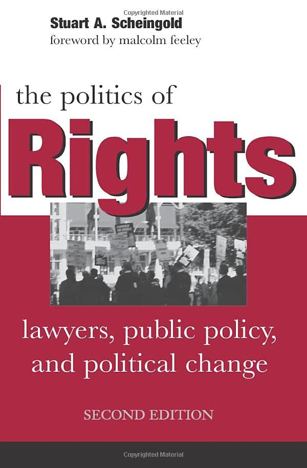 PDF The Politics of Rights Lawyers Public Policy and Political Change