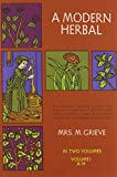 A Modern Herbal (Volume 1, A-H) - book cover picture