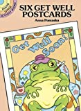 Six Get Well Postcards: Dover Little Activity Books