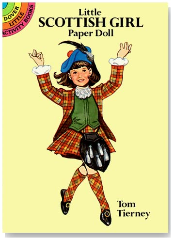 Little Scottish Girl Paper Doll