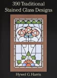390 Traditional Stained Glass Designs book cover