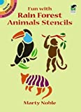 Fun with Rain Forest Animals Stencils (Dover Little Activity Books)