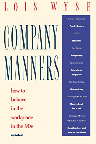 Company Manners How to Behave in the Workplace in the 90s
