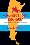 Argentina, 1516-1987: From Spanish Colonization to Alfonsin