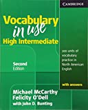 Vocabulary in Use High Intermediate Student's Book with Answers by Michael McCarthy, Felicity O'Dell