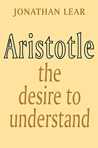 Aristotle: The Desire to Understand Book Cover Picture