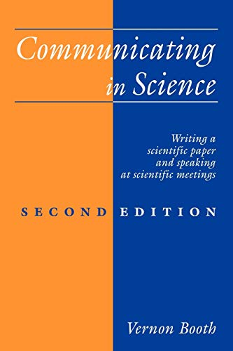 Technical writing books engineering research guides at case communicating in science writing a scientific paper and speaking at scientific meetings 1993 by booth vernon fandeluxe Choice Image