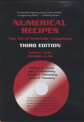 Numerical Recipes Source Code CD-ROM 3rd Edition: The Art of Scientific Computing