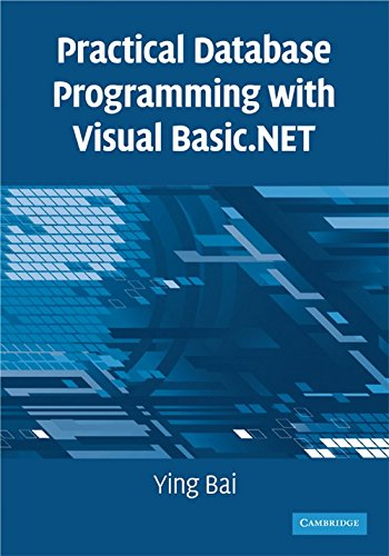 PDF Practical Database Programming with Visual Basic NET