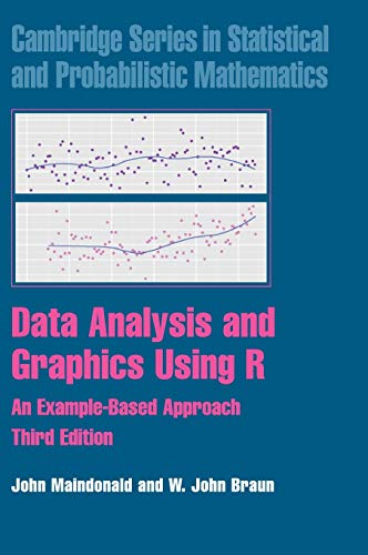 Data Analysis and Graphics Using R: An Example-Based Approach (Cambridge Series in Statistical and Probabilistic Mathematics)