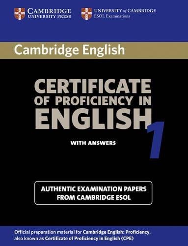 Certificate Of Proficiency In English Pdf