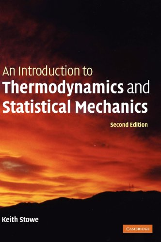 PDF An Introduction to Thermodynamics and Statistical Mechanics