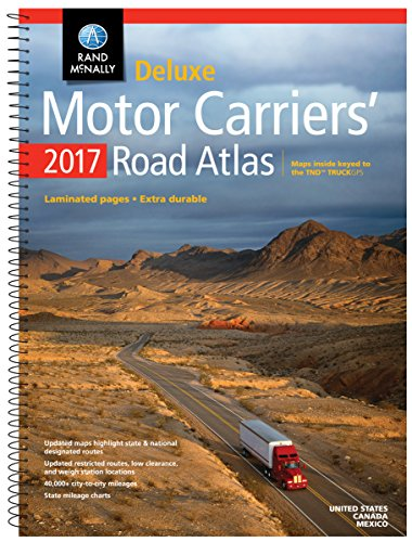 Rand McNally 2017 Deluxe Motor Carriers' Road Atlas (Rand Mcnally Motor Carriers' Road Atlas Deluxe Edition) - Rand McNally