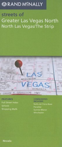 Rand McNally Streets of Greater Las Vegas North, North Las Vegas/The Strip, NV
