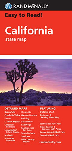 Rand McNally Easy to Read! California State Map