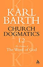 Church Dogmatics Classic Nip I.2 by Barth