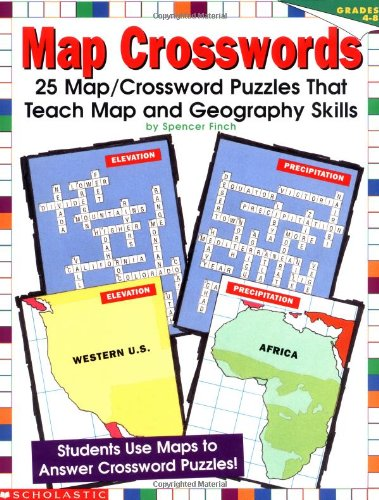 Map Crosswords (Grades 4-8), Finch, Spencer; Finch, S.