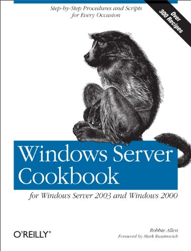 Windows Server Cookbook for Windows Server 2003 and Windows 2000