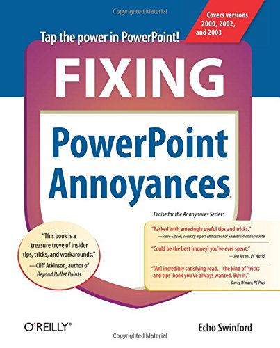 Fixing PowerPoint Annoyances: How to Fix the Most Annoying Things About Your Favorite Presentation Program - Echo Swinford