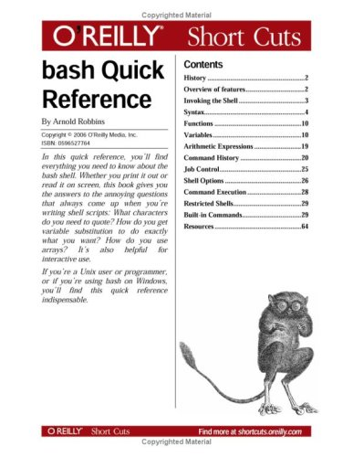 Book Cover: Bash Quick Reference