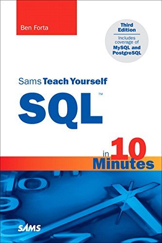 Book cover for Sams Teach Yourself SQL in 10 Minutes Third Edition