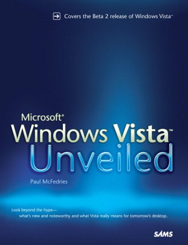 Book Cover: Microsoft Windows Vista Unveiled