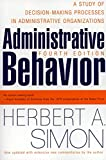 Buy Administrative Behavior, 4th Edition from Amazon