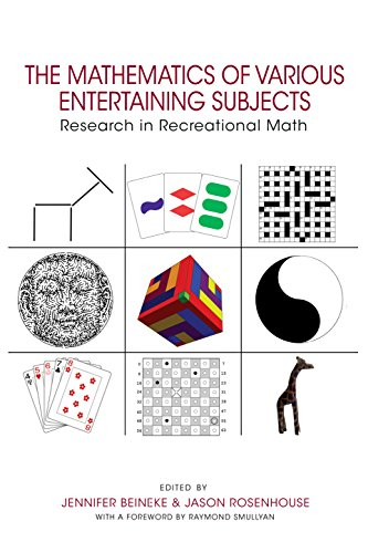 The mathematics of various entertaining subjects : research in recreational math Cover Art