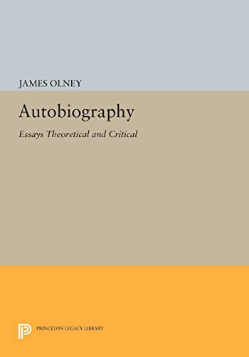 PDF Autobiography Essays Theoretical and Critical