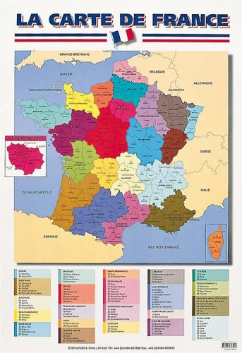 La Carte De France Laminated Poster (Early Learning French) (French Edition)