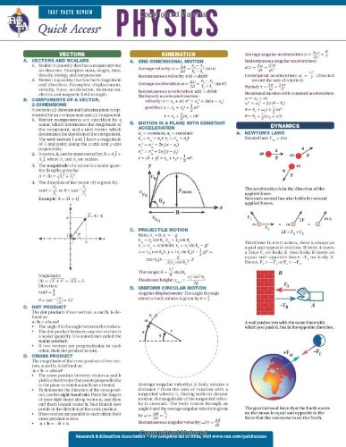 Physics - REA's Quick Access Reference Chart (Quick Access Reference Charts) - Editors of REA, Physics Study Guides