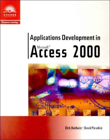 Applications Development in Microsoft Access 2000