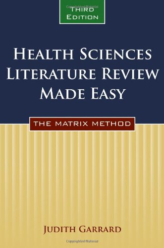 HEALTH SCIENCES LITERATURE REVIEW MADE EASY, 3ED
