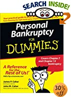 Personal Bankruptcy for Dummies - Book, Books, Advice, Advisor, Counselor